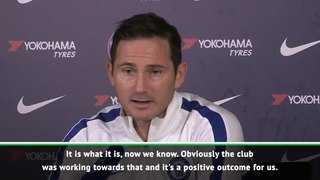 Lampard ready to assess the market after Blues' ban being reduced