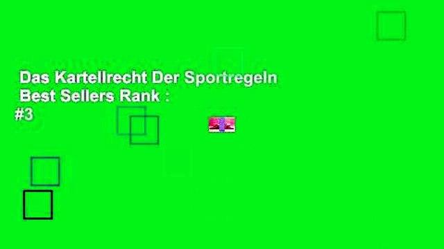 Das Kartellrecht Der Sportregeln  Best Sellers Rank : #3