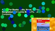 About For Books  India, Nepal, Bhutan, Bangladesh, Sri Lanka Marco Polo Map Complete