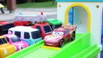 Tayo Bus Friends Parking cars 3 Learn Colors and Numbers Toy Slide Play