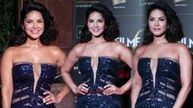 Sunny Leone DAZZLES in a BLUE SEQUINED GOWN At Filmfare Glamour And Style Awards 2019