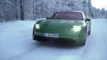Porsche Taycan 4S in Mamba Green Driving Video