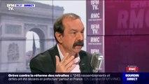 """Philippe Martinez (CGT): """"La grève est reconductible dans plusieurs secteurs (...) Dans les transports, c'est certain"""""""