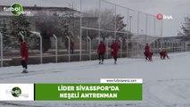Lider Sivasspor'da neşeli antrenman