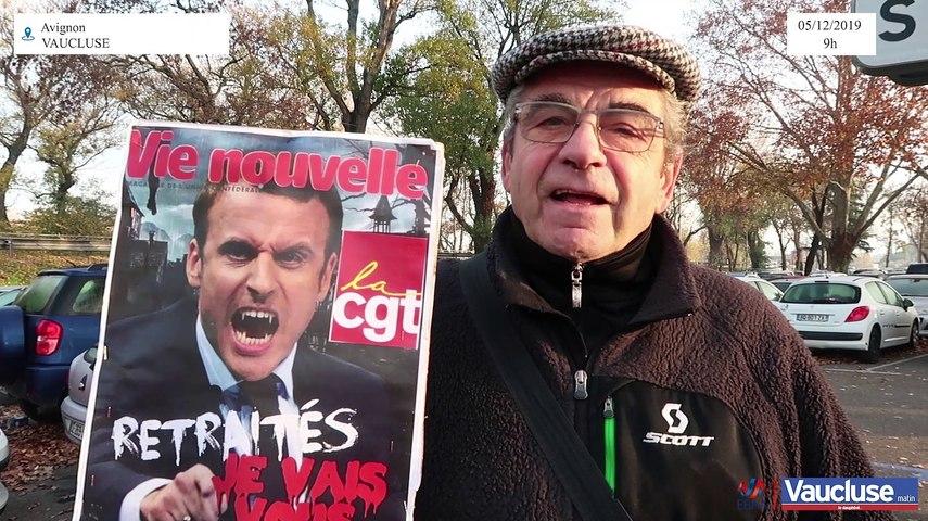 Grèves: André, 70 ans, retraité