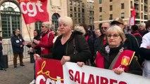 Les manifestants chantent leur colère contre la réforme des retraites à Marseille