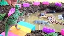 Dinosaur Rescues Friends Wild Animals in the Mud