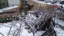 Adıyaman çelikhan'a yılın ilk karı yağdı