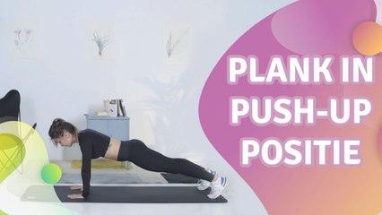 plank in push-up positie - Gezonder leven