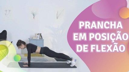 Prancha em posição de flexão - Melhor com Saúde