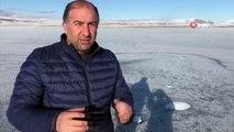 Gürcistan ve Türkiye Arasındaki Doğal Sınır Aktaş Gölü Dondu İha
