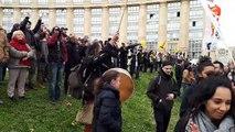La fin de la manifestation  contre la réforme des retraites à Montpellier