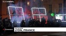 Lyon'da Işık Festivali zamanı