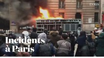 Incidents en marge de la manifestation contre la réforme des retraites à Paris