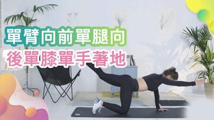 單臂向前單腿向後(單膝單手著地) - 健康 幸福 樂活