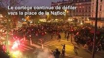 Retraites: des heurts éclatent à Paris