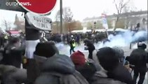 Zavargásokká fajult a tüntetés a nagy francia sztrájk napján