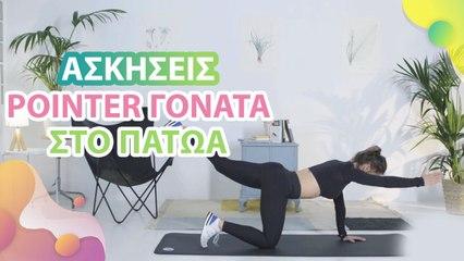 Ασκήσεις pointer, γόνατα στο πάτωμα -  Με Υγεία