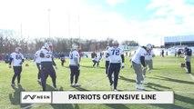 Dec 5th Patriots Practice - Offensive Line