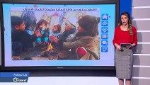 طفلة سورية تتقمص دور مراسلة تلفزيونية في مخيمات الشمال لنقل معاناة أقرانها - FOLLOW UP