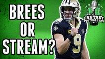 Fantasy Football Week 14  - Start or Sit Drew Brees vs 49ers?