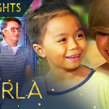 Buboy and Stella are delighted with the help that came to Barrio Maulap   Starla