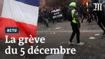 Grève du 5 décembre : les images d'une journée de mobilisation