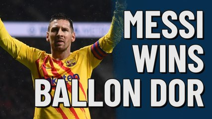 Messi wins 6th ballon dor