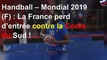 Mondial féminin: la France chute d'entrée
