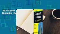 Full E-book  Corporate Finance for Dummies  Best Sellers Rank : #4