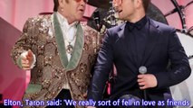 Taron Egerton says he 'fell in love' with Elton John while working on Rocketman