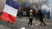 Tear gas and arrests at 'largest French strike in decades'