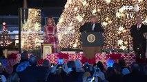Melania Trump bringt Weihnachtsbaum in Washington zum Leuchten