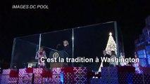 Donald et Melania Trump à la cérémonie d'illumination du sapin de Noël national
