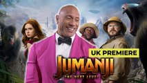 Dwayne Johnson and Jumanji cast at UK Premiere