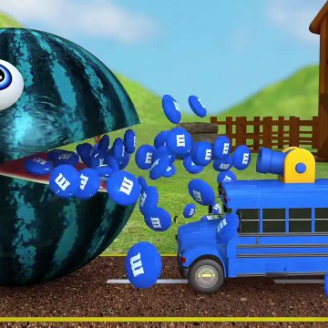 Learn Colors with PACMAN and Farm WaterMelon 3D mandm Street Vehicle for Kid