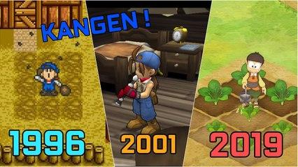 Harvest Moon Evolusi dari Masa Ke-masa 1996 - 2019