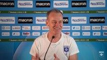 La conférence de presse de Jean-Marc Furlan avant Hombourg-Haut - AJA en Coupe de France