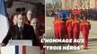 À Nîmes, Macron rend hommage aux 3 secouristes morts lors des intempéries