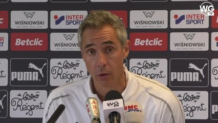 """Paulo Sousa : """"On doit avoir l'ambition de rivaliser avec Marseille"""""""