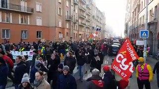 Manifestation contre la réforme des retraites, jeudi 5 décembre 2019 à Strasbourg