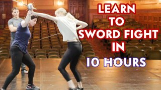 Actor Learns How to Sword Fight in 10 Hours