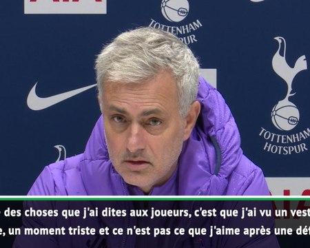 """16e j. - Mourinho : """"Il faut être en colère"""""""