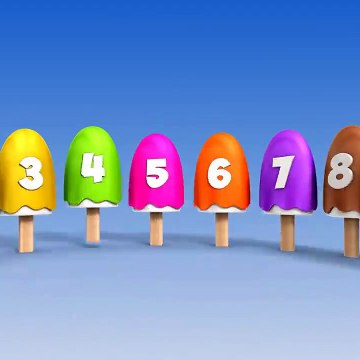 Learn Numbers with Number Ice Cream Popsicles Song