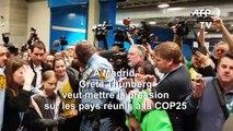 """""""Nous n'avons rien accompli"""" concernant le climat insiste Greta Thunberg à Madrid"""