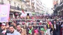 Foule exceptionnelle à Alger pour le dernier vendredi avant la présidentielle (AFP)