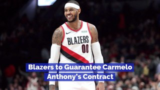 Carmelo Anthony's Contract Is Being Amended