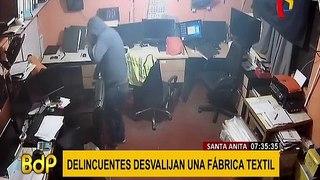 Santa Anita: ladrones desvalijan fábrica textil