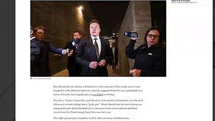 Jury: Elon Musk Did Not Defame British Diver