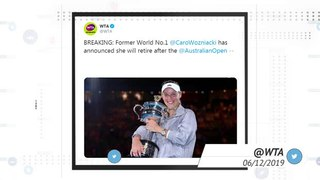 Social media reacts to Caroline Wozniacki's retirement announcement